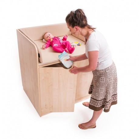 Mesa cambiador beb con puertas serviguarderias for Mesa cambiador bebe