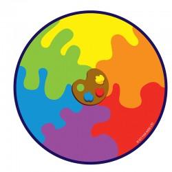 Alfombra Paleta de colores - Circular