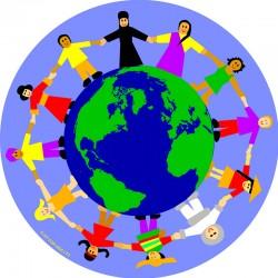 Alfombra Niños del mundo - Circular